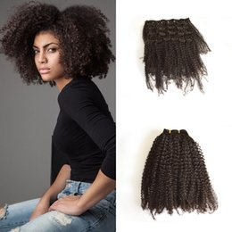 African American Hair Wholesale Australia - Hot African American Kinky Curly Clip In Human Hair Extensions 120G Virgin Indian Kinky Curly Clip Hair Extensions G-EASY