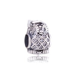 $enCountryForm.capitalKeyWord UK - New Hot sale 925 sterling silver owl charms with crystal for jewelry making fit Pandora style jewelry bracelets free shipping