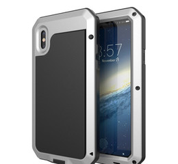 iphone 5c aluminum cases Australia - Hot selling Waterproof Metal Case Hard Aluminum Dirt Shock Proof Phone Case Cover for iphonex 4s 5c 5s 6 6s 7 8 7plus