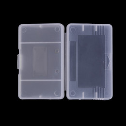Advance Plastic Case Canada - Clear Plastic Game Cartridge Cases Case Storage Box Protector Holder Dust Cover Replacement Shell For Nintendo Game Boy Advance GameBoy GBA