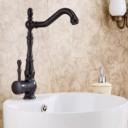 free shipping american standard oilrubbed bronze finish one hole single handle rotatable best bathroom sink faucet