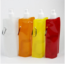 water bottle bags Australia - Fashion Not Applicable Portable Folding Sports Water Bottle for Sports Foldable Bag Travel Mug for Sports Water Bag 480ml
