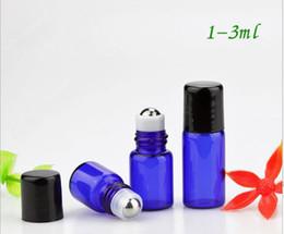 $enCountryForm.capitalKeyWord Canada - 1ml 2ml 3ml Empty Essential Oil Roller ball Bottles Blue Glass Roll-On refillable Bottles deodorant roll on glass bottle For perfume