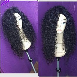 best synthetic heat resistant wigs Canada - Best Sell long #1b #2#4 #99J blonde synthetic lace front wig African Ameican Black Women style loose curly heat resistant Hair Wigs