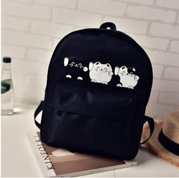 Used Cat Canada - Three cat canvas bag cartoon cat boys and girls travel bags. Backpack. Schoolbag. Multiple use. High quality nylon fabric.