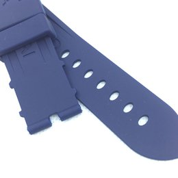 China 24mm 115mm 75mm Fashion Blue Silicone Rubber Water proof PAM Band Strap for LUNMINOR RADIOMIR Watch cheap pam rubber suppliers
