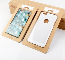 $enCountryForm.capitalKeyWord NZ - 300pcs Wholesale Custom Logo Simple Kraft Paper With Transparent Plastic Packaging Box For Phone Case For iPhone 6s 6 plus
