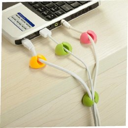 fixed wire clip attractive cable clip desk tidy wire drop lead usb charger cord holder organizer holder line accessories free shipping