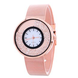 geneva watch leather band UK - New Women Geneva Watch Korean Alloy Band Round Dial Charming Bracelet Wrap Watch Mix Colors Free Shipping Christmas Gift