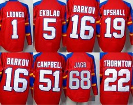 25880b4f6 Florida Panthers 68 Jaromir Jagr Ice Hockey Jerseys 1 Roberto Luongo 16  Aleksander Barkov 5 Aaron Ekblad Team Color Red Stitching Quality