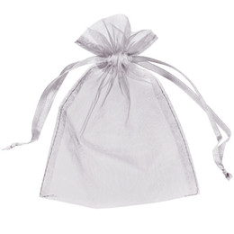China 100Pcs 5x7inch Silver Organza Bags Gift Pouch Wedding Favor Christmas Party Wrap (13cm x 18cm) Multi colors Red Pink Ivory Gold Blue Green cheap x gifts suppliers
