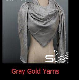 Cotton Star Square Scarf Australia - zhu Quality Shiny Lurex Yarns shawl cotton scarves & wraps silk wool shawls square Design 150*150cm Pashmina