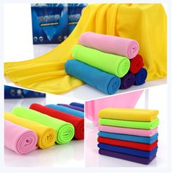 cooling towel wholesale Canada - Gifts package Cold Towel Summer Sports Ice Cooling Towel Double Color Hypothermia cool Towel for sports WA0634