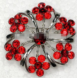 Wholesale Did not want you piece Red Crystal Rhinestone Fashion Brooches gift Bridesmaid Wedding party prom Flower Pin Brooch