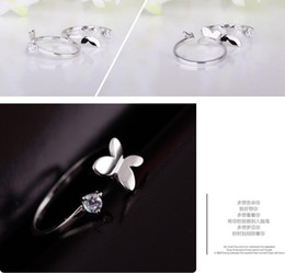 $enCountryForm.capitalKeyWord NZ - Wholesale Latest design Butterfly shape 925 Silver Rings For Women Fashion Mosaic crystal diamond Jewelry Brand designer Top Quality