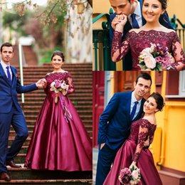 ac40d8ba01c7 Silver maroon dreSS online shopping - 2017 Saudi Arabic Burgundy Off  Shoulders Long Prom Dresses Sheer