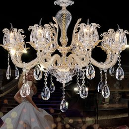 European Style Crystal Chandelier Living Room Chandeliers Luxury Atmosphere Hotel Restaurant Bedroom Lamp Modern Mall Pendant Lamps
