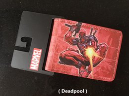 Animated Cards Australia - animated cartoon X-Men Marvel Deadpool wallet fashion brand purse Young boys and girls purse personality Man purse