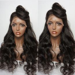 best lace wigs NZ - Free Part Full Lace Wigs Best Virgin Brazilian Human Hair Full Lace Wig With Natural Hairline Glueless Long Wavy Lace Front Wig