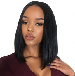 virgin swiss lace wig NZ - Brazilian Virgin Human Hair Lace Front Wigs Glueless Short Bob Human Hair Wigs Straight With Baby Hair For Black Women FDSHINE