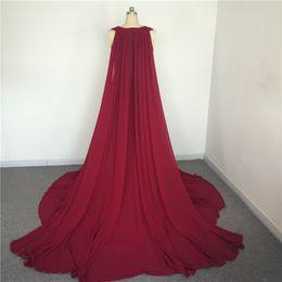 prom wraps jacket shawl 2019 - New Arrival dresses evening wear With Long Shawl robe de soiree Chiffon vestido de festa longo Prom Gowns Tulle Long bur