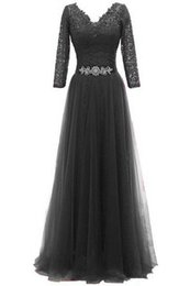 China A Line Long Mother of the Bride Dresses Long Sleeve Lace Beading Belt Tulle Skirt Floor Length Women Formal Gowns Custom Size suppliers