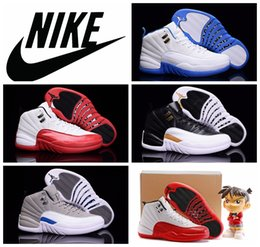 b7c8f510bf9428 Nike air jordan 12 Wings black white gold men Basketball Sport Shoe cheap  good quality 2016