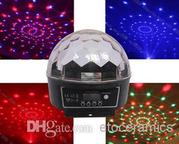 dmx512 led crystal ball Canada - Hight Quality 6 Channel DMX512 Control Digital LED RGB Crystal Magic Ball Effect Light DMX Disco DJ Stage Lighting Free Shipping 12pcs lot