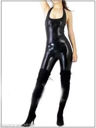$enCountryForm.capitalKeyWord NZ - Lycra Zentai Spandex Sleeveless Catsuit Metallic Black S-XXL