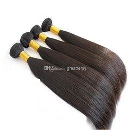 Cheap Remi Hair Weave UK - 100% Chinese Hair 3bundles RemI Human Hair Weave Straight Natural Color Cheap Chinese Hair Greatremy Drop Shipping