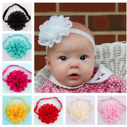 Discount cute hair accessories for children - Hollow Flower Baby Hair Head Accessories Handmade Cute Children Elastic Headbands Hair Band Photography Props for Girls