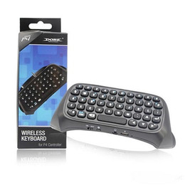 bluetooth mini joystick UK - Mini Wireless Bluetooth Keyboard Message Chatpad for PS4 Game Controller Joystick Playstation 4 with Retail Box Black