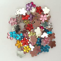 $enCountryForm.capitalKeyWord NZ - 100 pieces lot Random mixing Acrylic plum blossom Flat Back Scrapbook Craft Wedding decoration B01A