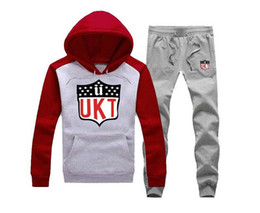 block brown UK - free shipping hip hop Tracksuits new style men unkut Hight quality hoodies+pants Color-Block Plus size s-5xl