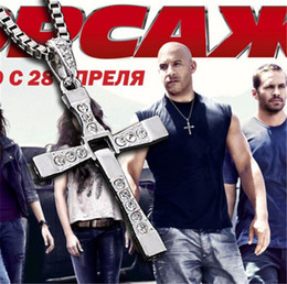 $enCountryForm.capitalKeyWord NZ - THE FAST and The FURIOUS Dominic Toretto's CROSS Chain Silver Pendant Necklaces Fashion Jewelry Charm Christian cross Jewellry Free Ship DHL