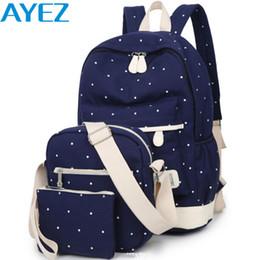 $enCountryForm.capitalKeyWord NZ - Wholesale-Ayez! women backpack in casual daypacks 2016 canvas backpacks set designer women's travel bags Preppy Style school bag