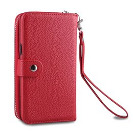 China For Samsung Galaxy Note8 S8 S8 plus S6 edge S7 edge S5 Zipper Wallet Leather Cell Phone Case Purse With Magnetic Detachable Cover 10pcs lot suppliers