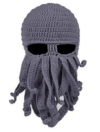 army ski mask 2021 - 2018 Unisex Octopus Knitted Wool Ski Face Masks Event Party Halloween Knitted Hat Squid Cap Beanie Cool Gifts Mask disco