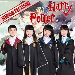 Harry Potter Cosplay Adultes Pas Cher-2016 Harry Potter Robe Gryffondor Cosplay Costume Enfants Adulte Harry Potter Robe Cloak Costumes d'Halloween pour les enfants