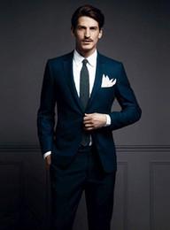 Wholesale Black Dress Wedding Tuxedos No Risk Shopping 2016 Prom Lapel Groom Suits Modern Suit Notch Lepal For Men