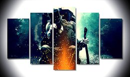 Vampire Decor UK - Abraham Lincoln Vampire Hunter,5 Pieces Home Decor HD Printed Modern Art Painting on Canvas (Unframed Framed)
