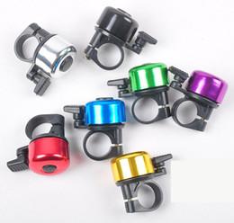 Ingrosso Nuova bicicletta in lega di alluminio campana bici campana suono clamoroso di alta qualità bici manubrio anello corno 6 colori opzionale