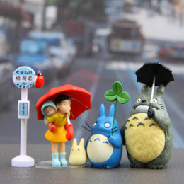 Japanese silicone toy girls online shopping - New Quality designs set Japanese Totoro girls Doll PVC Action Figures Toy Fairy Garden Miniatures Craft for Gift Home Decor Accessories