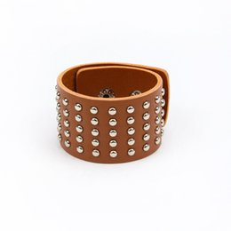 China Charm Bracelet for Women bracelet luxury exclusive design leather statement bangles for women with magic closure jewelry leather braceets supplier closure magic suppliers