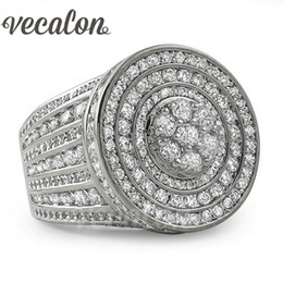$enCountryForm.capitalKeyWord Canada - Vecalon Channel setting Women Men ring 240pcs Simulated Diamond Cz 925 Sterling Silver Couple Engagement Wedding band Ring Gift