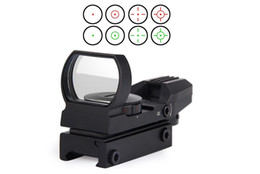 hot Holographic 4 Reticle Red Green Dot Tactical Sight Scope with Mount for hunting New Free Shipping on Sale