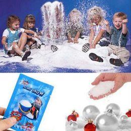 DIY Kinder Geschenke Künstlich Gefälschte Magie Instant Schnee Flauschigen Dekorationen Für Weihnachten Hochzeit Künstliche Schnee Pulver kostenloser versand