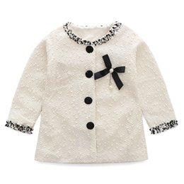 Barato Trench Coat Criança Primavera-2017 novas vendas quentes Spring-Autumn Baby Girl's Warm Jacket Long-Sleeves Overcoat Trench Coat Kids Toddler White Black