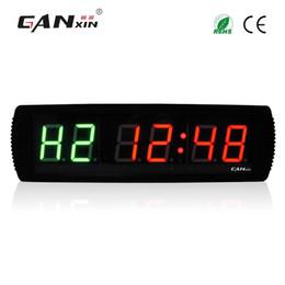 Venta al por mayor de GANXIN Nuevo 3 '' Reloj LED con temporizador de ejercicios para entrenamiento en intervalos MMA Tabata Box H.I.T Gym Timer