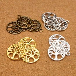 Metal Jewelry Gift Tree Canada - Vintage Charms Tree of Life Alloy Pendant Antique Bronze Metal Fits Bracelets Necklace DIY Jewelry Accessories 4 Style Fashion Pendant B926S